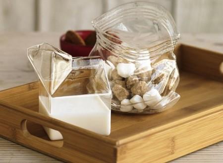 Un Tetrabrik de vidrio para la leche