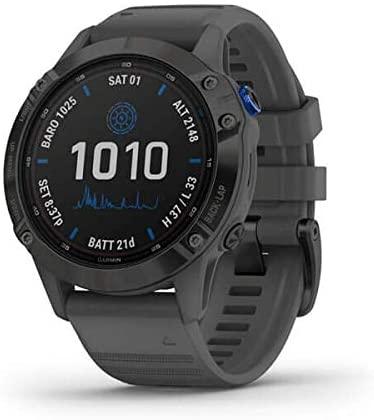 Garmin fēnix 6 Pro Solar, Reloj GPS Multideporte con energía Solar, características y Datos de Entrenamiento avanzado 010-02410-11