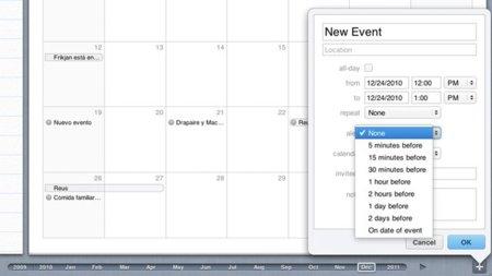 El regalo de navidad de MobileMe: alertas en el calendario de su aplicación web