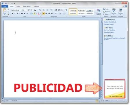 Más detalles sobre Office 2010 Starter