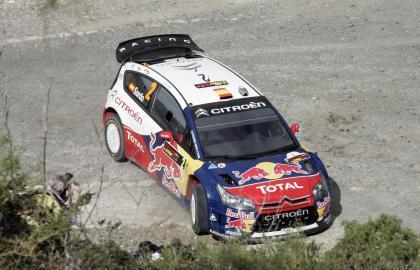 Dani Sordo pierde la segunda plaza y Loeb sigue líder