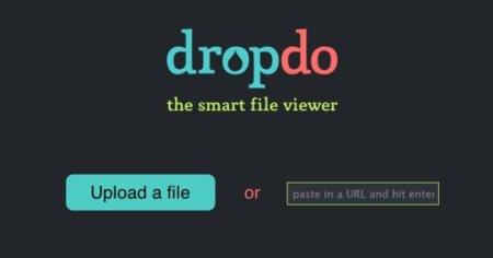 Dropdo, sube y visualiza rápidamente varios formatos de archivo