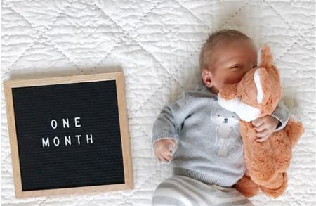 Ideas para tomar fotos en cada cumple mes del primer año de tu bebé