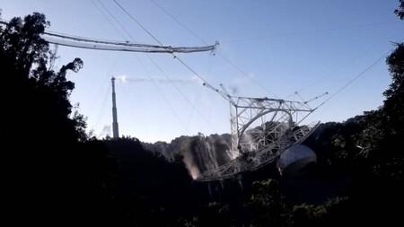 Una estructura de 900 toneladas hecha añicos: en este vídeo captaron el colapso de Arecibo completo desde varios ángulos