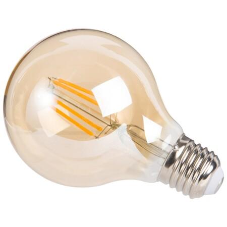 Bombilla De Filamento Led De Vidrio Tintado Ambar 1000 5 14 180783 1Bombilla de filamento LED de vidrio tintado ámbar