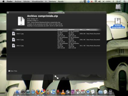 Nuevo Plugin para QuickLook que permite visualizar archivos .zip