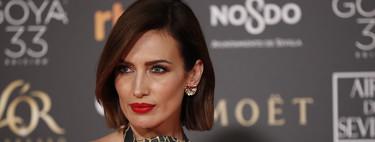 Premios Goya 2019: Nieves Álvarez luce un perfecto bob en esta alfombra roja