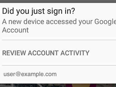 Google para Android nos avisará cada vez que un nuevo dispositivo inicia sesión con nuestra cuenta