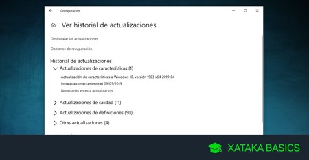 Cómo saber qué actualizaciones de Windows 10 tienes instaladas y cómo desinstalarlas