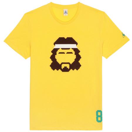 camiseta retro futbol lecoq brasil