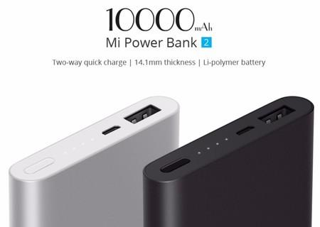 Batería externa Xiaomi Mi Power Bank 2, de 10000mAh, por sólo 14,99 euros y envío gratis