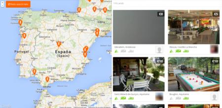 Gamping, el Airbnb de los que acampan
