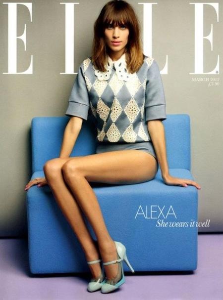 ¿Dónde está Alexa? En la portada de Elle UK...