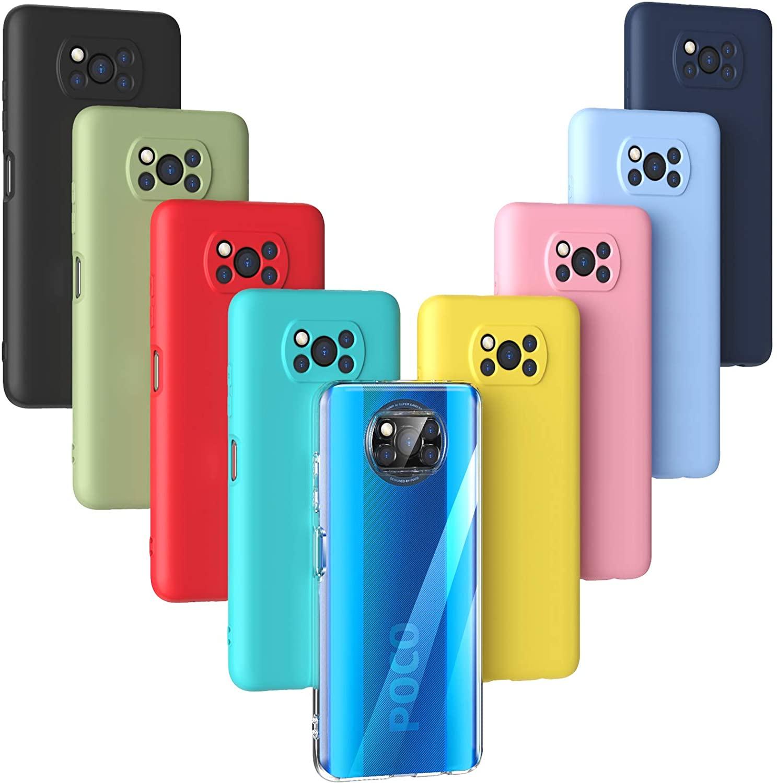 Oududianzi - Funda para Xiaomi Poco X3 NFC/Poco X3 Pro,Case de Silicona Suave de TPU Funda Protector de Goma Fexible Delgado Liviano y a Prueba de Golpes Antirrayas-[9 Colores]
