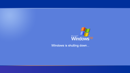 Windows XP se está cerrando