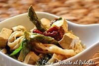 Curry de tofú y espárragos verdes. Receta
