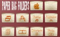 Set de iconos Paper Bag Folders para Leopard