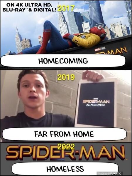 Meme del nuevo Spider-Man