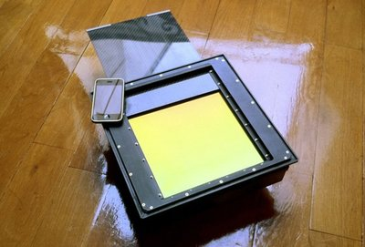 Un respaldo digital de 8x10 para cámaras de gran formato, fabricado por encargo