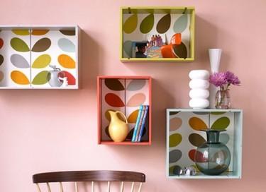 Estantes alegres y originales para decorar tu pared