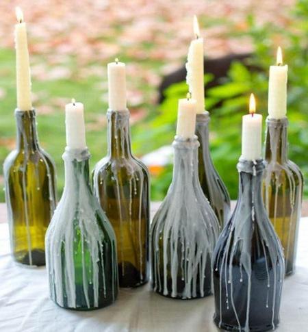 Mensaje en una botella siete ideas diy para reciclar el - Botellas con velas ...