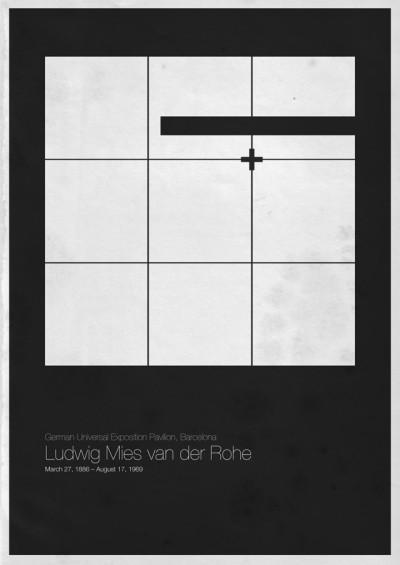 Foto de Six Architects, pósters minimalistas de grandes arquitectos (4/6)