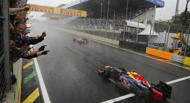 Sebastian Vettel llegada 2012 Interlagos