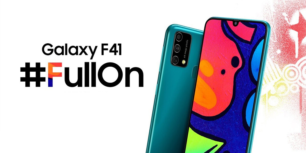 Samsung Galaxy F41: triple cámara de 64 MP y una enorme batería de 6.000 mAh para inaugurar la familia Galaxy F