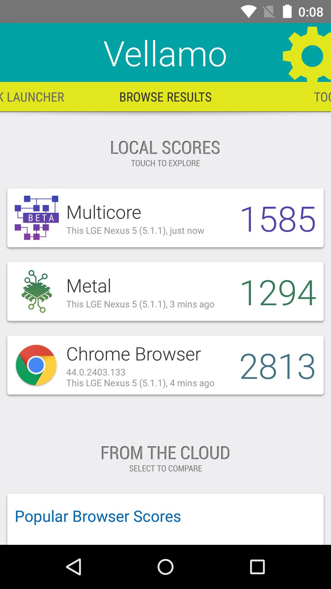 Foto de Benchmarks Nexus 5 Android 5.1.1 (15/43)