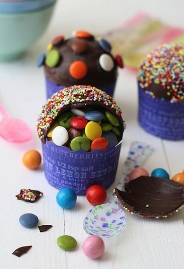 Cupcakes piñata para hacer con niños