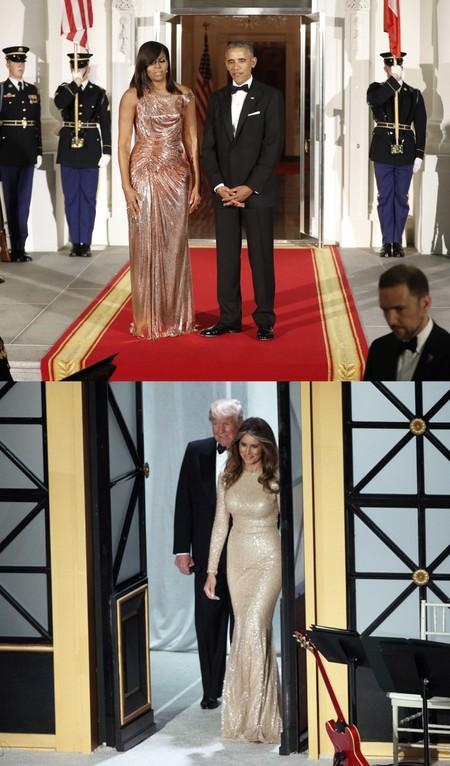 Michelle Melania Vestidos Metalicos