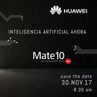 Huawei Mate 10, conoceremos más detalles de su llegada a México el 30 de noviembre