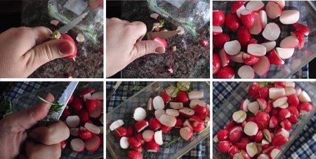 Receta de rábanos asados al romero