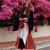 15 faldas plisadas perfectas para llevar de la ofi a cenar sin pasar por casa