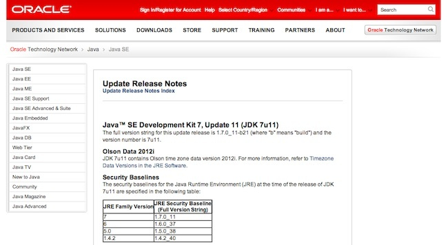 Oracle Java update 11 vulnerabilidad