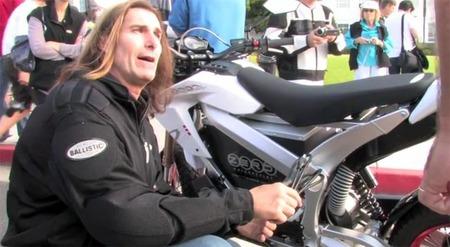 La moto eléctrica de Fabio Lanzoni