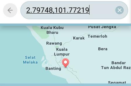 Si alguien comparte contigo las coordenadas GPS puedes usarlas en la barra  de búsqueda para encontrar ... 751171aac9b49
