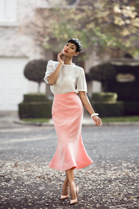 falda sirena look estilismo