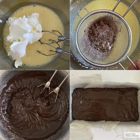 Bizcocho de Cacao y Queso. Pasos