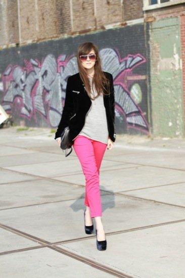 Pantalones pitillo Look de calle