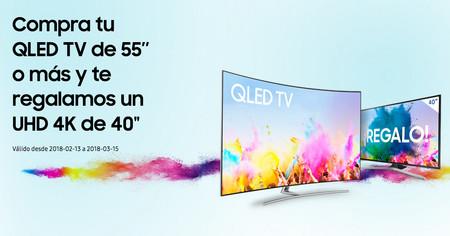Smart TV de 40 pulgadas Samsung MU6125 gratis al comprar un televisor QLED de 55 pulgadas o más