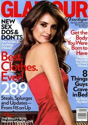 Penélope Cruz: su portada en Glamour y su top de Matthew Williamson