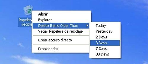 Bin manager, gestiona más eficientemente la papelera de Windows