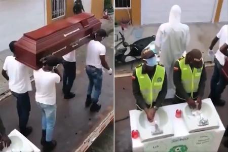 La idea de Colombia para que la gente se quede en casa: el meme de los enterradores africanos