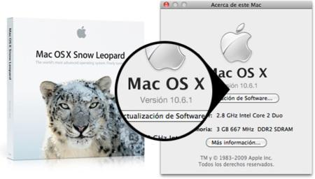 Primeros detalles de la actualización 10.6.1 de Snow Leopard