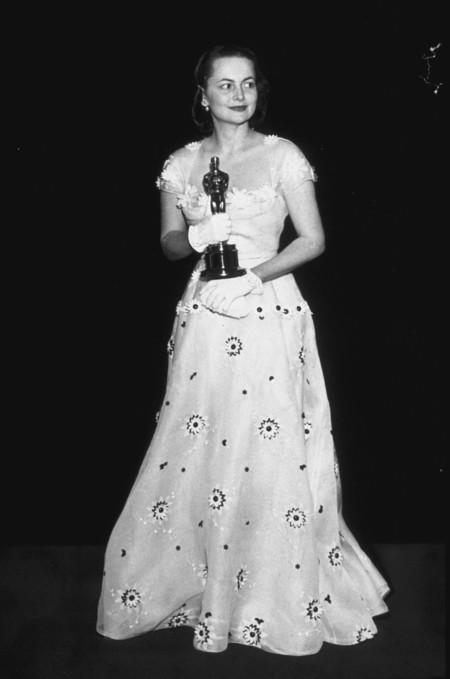 Olivia De Havilland Con Vestido De Orry Kerry En Los Oscar 1950