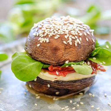 Mini hamburguesa de champiñones portobello: receta de picoteo