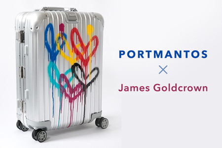 Lleva el amor a todos lados con 'Spread the Love', las maletas de PORTMANTOS diseñadas por James Goldcrown