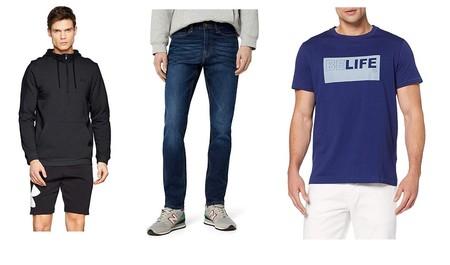 Chollos en tallas sueltas de pantalones, camisetas y sudaderas de marcas como Pepe Jeans, Find, Under Armour o Joma en Amazon