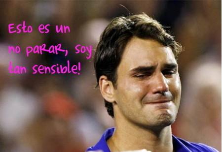 Roger Federer, un chico de lágrima fácil